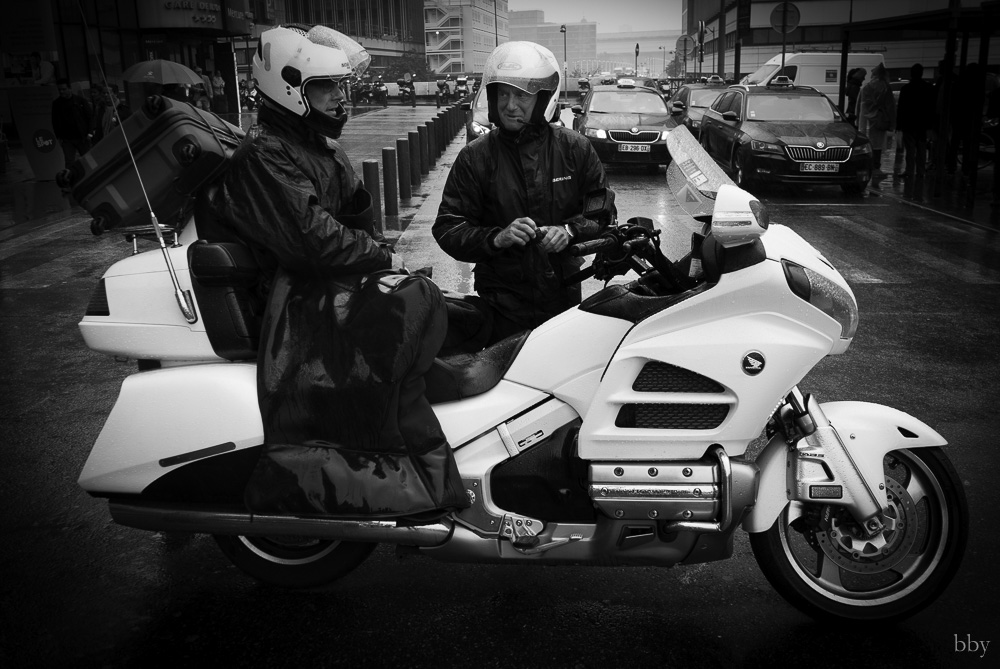 Motorcycle taxi Paris: Honda