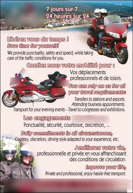 Motorcycle taxi Montussan: Honda