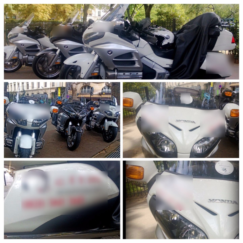 Moto avec chauffeur Paris: Honda